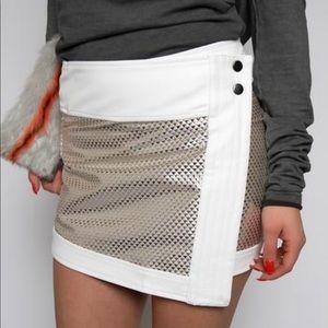 Dresses & Skirts - Mini Metallic Skirt/www.cuggo.com